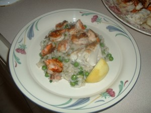 Grilled Seafood Risotto