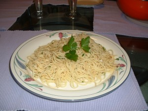 Angel Hair With Garlic And Olive Oil