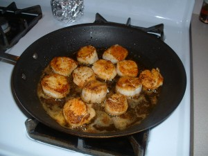 Fennel Spiced Pan Seared Scallops