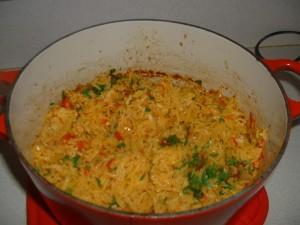 Oven Saffron Rice Pilaf