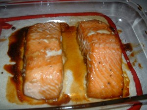 Maple Walnut Glazed Salmon