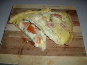 Tomato and Ricotta Cheese Fritatta