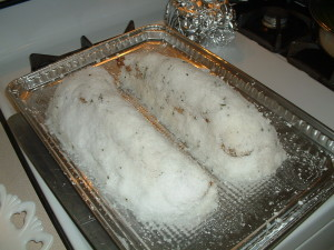 Roasted Pork Tenderloin Encrusted in Kosher Salt