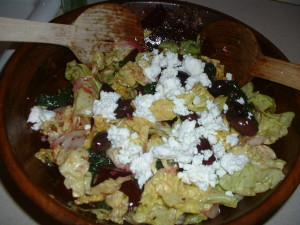 Roasted Beet Greek Salad