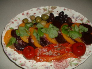 Heirloom Tomato and Roasted Beet Salad
